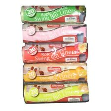 Swing Bin Liners Up To 60L APPLE Scented Roll of 20
