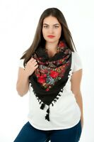 Amazing colourful Russian fashion Slavonic style shawl scarf summer collection-1