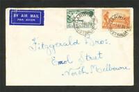 AUSTRALIA Cover 3d Airmail TYPE B + 2d Cent Vic Postmark Darwin,Brisbane, Sydney