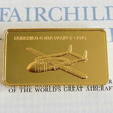 Fairchild C-82A Packet placcato in oro proof LINGOTTO-Jane 's medallic registro