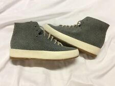 FEIT Hand Sewn Women's shoes Blue Speckeled Suede size 35