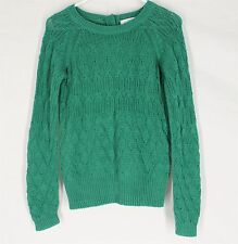 SPARROW ANTHROPOLOGIE SWEATER MEDIUM Green Chunky Beautiful Design Cable Knit M