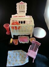 Vintage Barbie Furniture & Accessory Lot ~ Musical Crib Rocking Chair Vanity