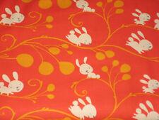 """David Walker's """"Garden"""",  Bunnies and vines in Orange, 1 yard"""