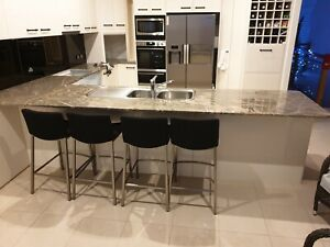 Granite Benchtop & Stainless Steel Sink. Perfect condition.