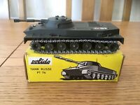 VINTAGE FRENCH SOLIDO TANK RUSSE PT 76 AMPHIBIE DIE-CAST WITH ORIGINAL BOX