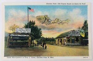Vintage Glorieta Pass New Mexico NM Old Pigeon Ranch on Santa Fe Trail Linen