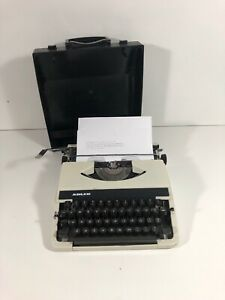 Adler Tippa Portable Typwriter And Carry Case, Made In West Germany White Black