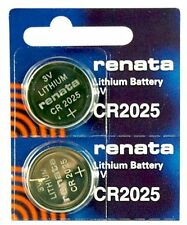 CR2025 3V Watch Battery (2 Pack) Lithium Medical Equipment Keyless Remote RENATA