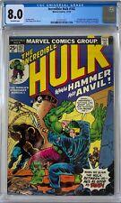 Incredible Hulk #182 CGC 8.0 1st app. of Hammer & Anvil!KEY ISSUE!L@@K!