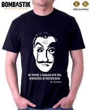 R0531 EL PROFESOR T-shirt Tee for La Casa de Papel fans  Bella Ciao Tv Series