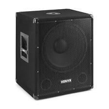 """Vonyx SMWBA15 subwoofer PA attivo da 15"""" 600 W max. BT MP3 connessione a flangia"""