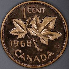 Canada 1 Cent 1968 Prooflike+++ ~Better than Most!~