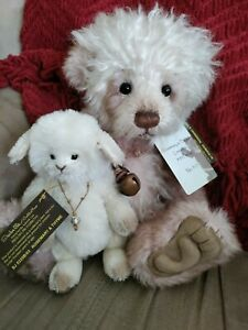 """Charlie Bears """"Rosemary and Thyme"""" Isabelle Lee Mohair/Alpaca bear & lamb w/tags"""