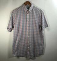 LL Bean Men's Size M Wrinkle Resistant Button Front Shirt Multicolor Plaid