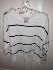 H&M Cream & Black Stripe Jumper Size M