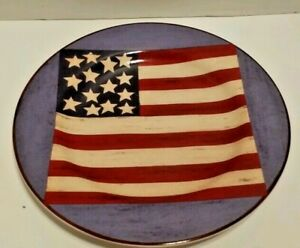 Americana Brandon House American Flag Stars Plate Spirit of the Flag Patriotic