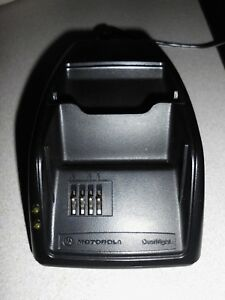 Motorola Overnight Dual Charger Cradle SPN4460B With Power Adapter