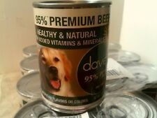 RHTF-DAVE'S 95% PREMIUM  BEEF CAN DOG FOOD-NEW-CASE OF 12-13 OZ EA-MADE IN USA