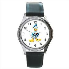 Brand NEW Donald Duck N7 S.S. Leather Band Quartz Watch