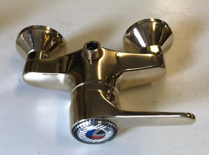 """Gold Brass Shower Mixer Tap Only Bathroom Lever Handle Swivel Hot Cold 1/2"""" BSP"""