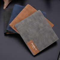 Mens Leather Slim Bifold Purse Wallet Clutch Credit Card Holder Billfold