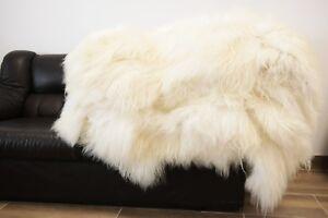 Genuine Natural Creamy White Icelandic Sheepskin Rug Wholesale Pack 10 pcs