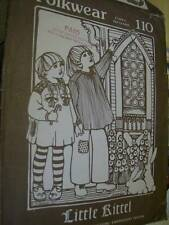 Folkwear Little Kittel Sewing Pattern #110 Children Sizes 4,6,8,10 (Shirt Dress)