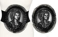 Restyle Stretchgürtel HOLOGRAMM Cameo Mieder Gürtel Corsage Belt Gothic Lolita