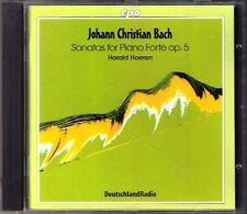 J.C. BACH 6 Fortepiano Sonata Op.5 HARALD HOEREN CPO CD Johann Christian HAYDN