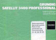 GRUNDIG SATELLIT 3400 SHORTWAVE  USER MANUAL