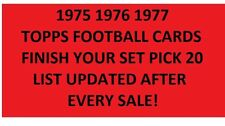 1975 1976 1977 Topps Football Card Finish Your set Pick 20*