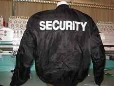 Security Bomberjacke MA1 Sicherheitsschutz Sicherheitsdienst bestickt