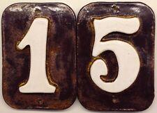 Tile numbers, House or Post, outdoor, handmade.Weatherproof Applewood Free ship