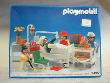 Playmobil 3495 Hospital Patient Room Clinic Doctors 1985 Geobra West GERMANY