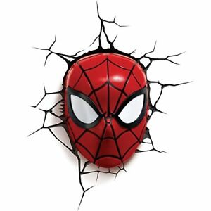 Spiderman Marvel Spider Man Mask 3D Wall Light