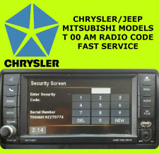 CHRYSLER JEEP DODGE RAM RADIO PIN CODE DECODE UNLOCKING ALL MODELS T00AM FAST