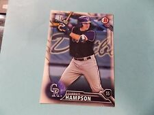 2016 Bowman Draft #BD63 Garrett Hampson Rookie Card Colorado Rockies Lancaster