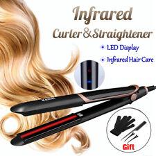 Infrared Hair Straightener Curler Crimper Styler LED Display Tourmaline Ceramic