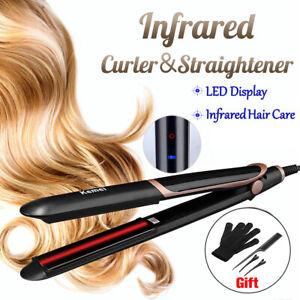 Infrared Hair Straightener Curler Crimper Styler LED Display Tourmaline  I