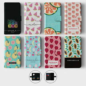 Tirita Personalised Wallet Flip Case for Samsung S10 S9 S8 Summer Fruits