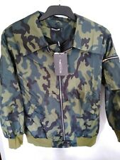 Prettylittlething Camouflage Green bomber Jacket Size Small Mx11
