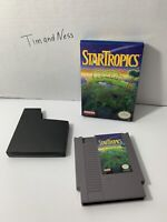 StarTropics Authentic Nintendo Entertainment System NES Game  w/ Box No Manual