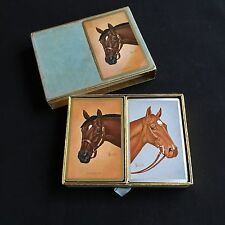 Vintage Playing Cards Congress Horse Nashua Swaps Heads Brewer Twin Deck
