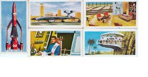 A collection of 5 Thunderbirds Barratt & Co Trading Cards 1960's