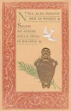 A7595) SALUTI ED AUGURI DALLA CITTA' DI BOLOGNA NELL'ALBA PRIMAVERILE DI PASQUA.