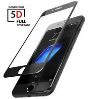 5D 9H Full Cover Tempered Glass Screen Protector Guard For Apple iPhone 6s BLACK