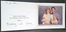 More details for trh prince charles & princess diana signed royal christmas card william & harry