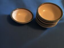 "Pfaltzgraff Juniper set of 7 soup cereal bowls 6"" USA Stoneware"