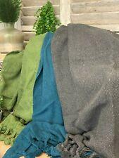Sofá De Algodón Tejido Estilo Rústico Sofá Colcha Manta Silla Tirar 130 X 170cm